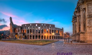Colosseum Rome early morning.
