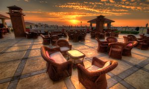 Hotel roof Patio in Egypt.